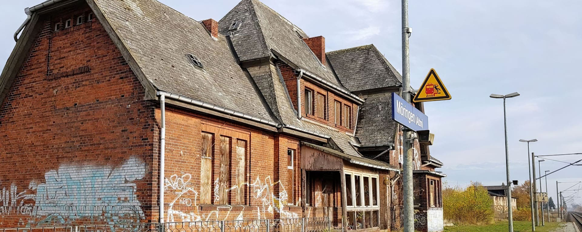 Large former railway station building for sale